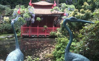 The cranes in Compton Acres gardens, Canford Cliffs