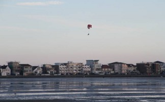 Paragliding over Sandbanks